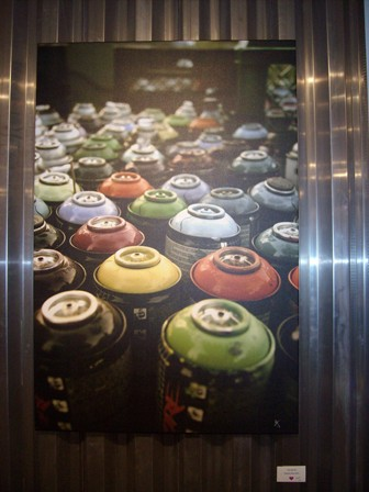 Slow Spray Paint Cans by Casey Decotis