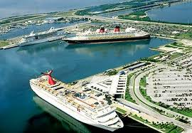 Disney and Carnival Ships docked in Port Canaveral