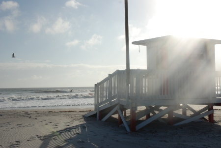 Lifeguard Shack on Cocoa Beach photo credit: Space Coast Office of Tourism