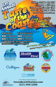 Taste of the Coast - Flyer